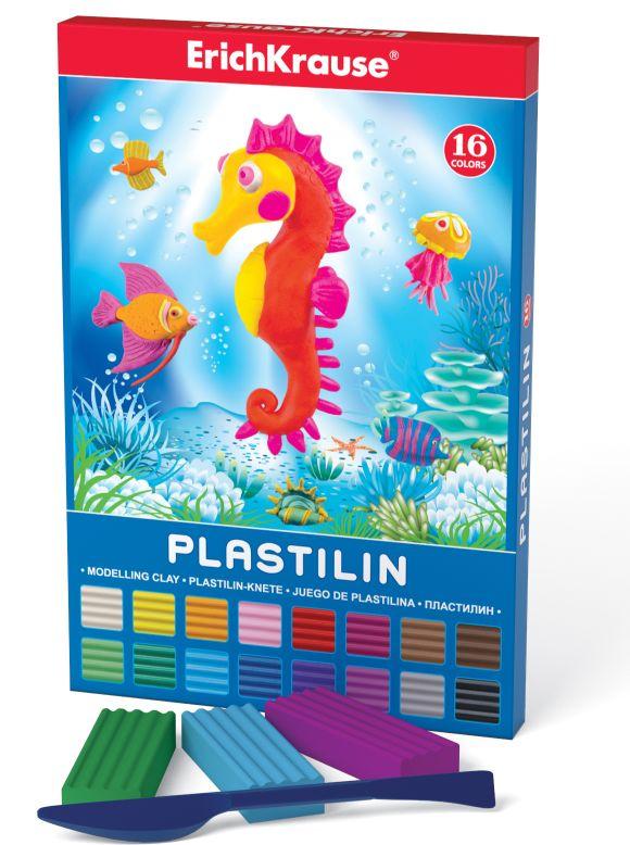 Пластилин 16 цв EK Морской мир 288гр