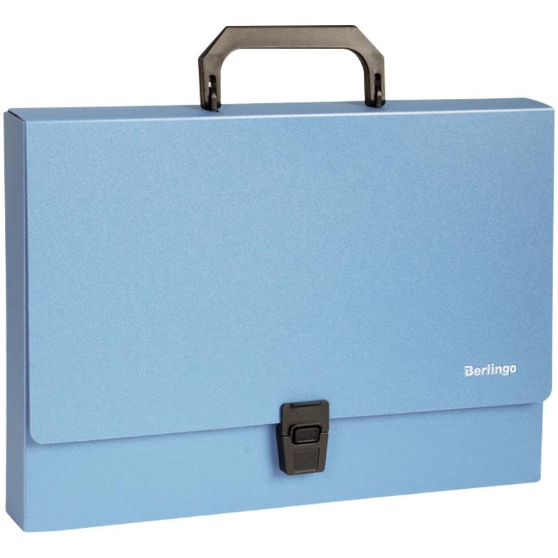 Портфель с ручкой 1отд Berlingo синий