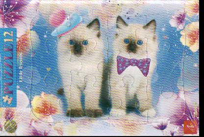 Пазл 12 Котята в рамке