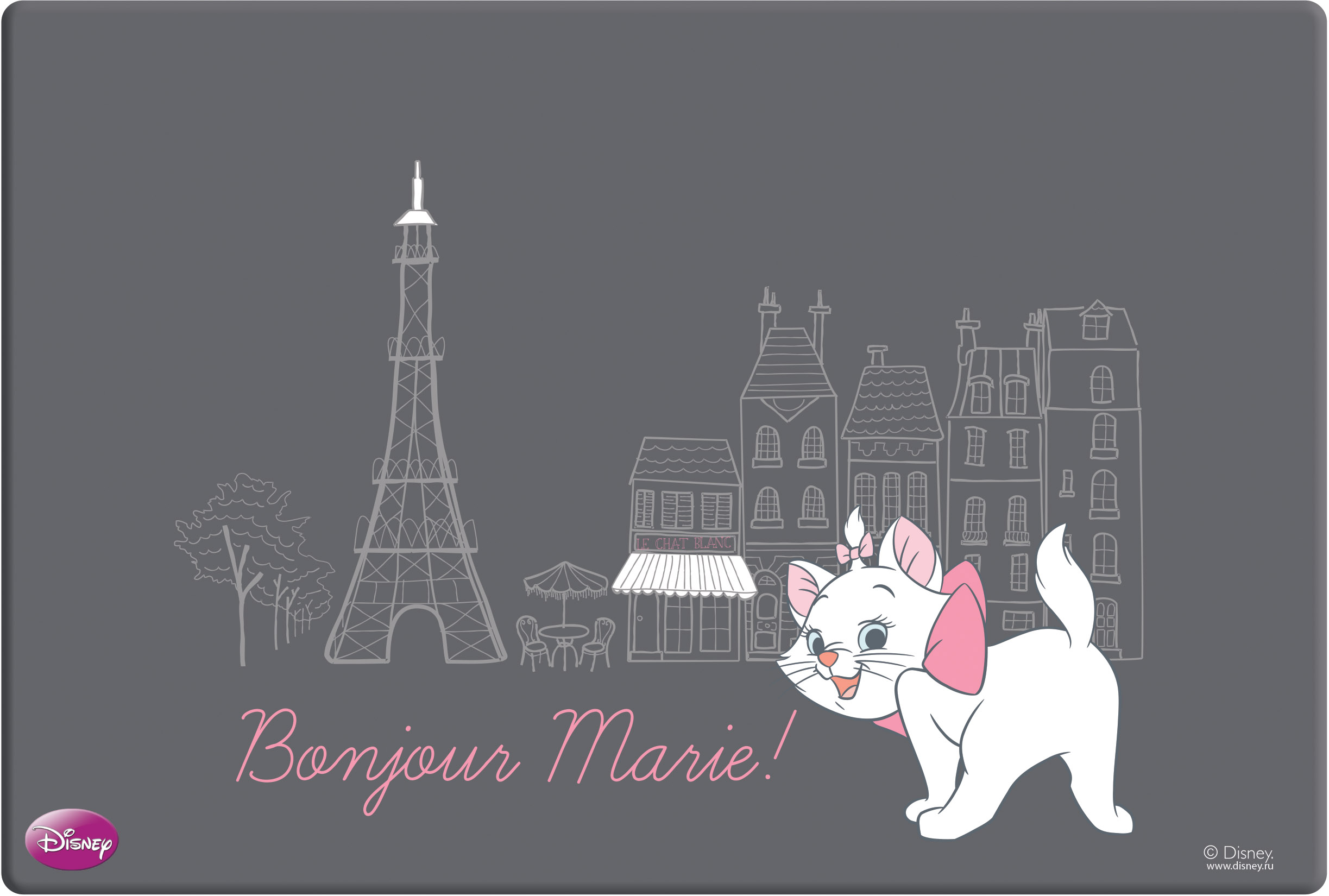 Коврик настольный А3 EK Marie in Paris