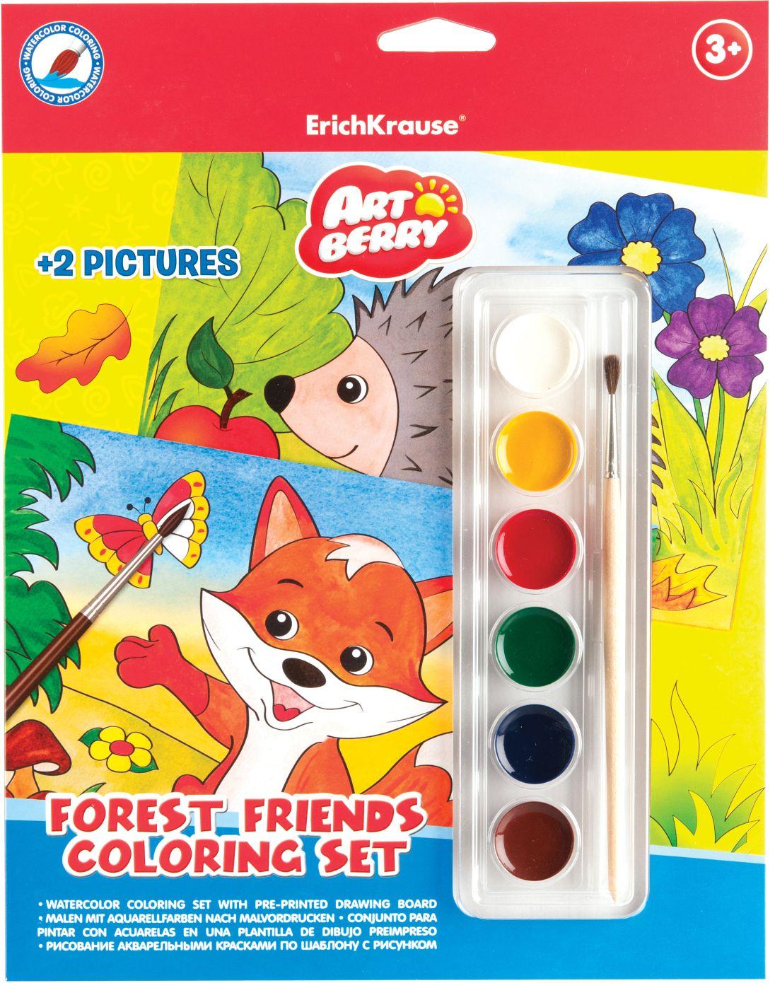 Набор для рисования красками EK Artberry Forest Friends