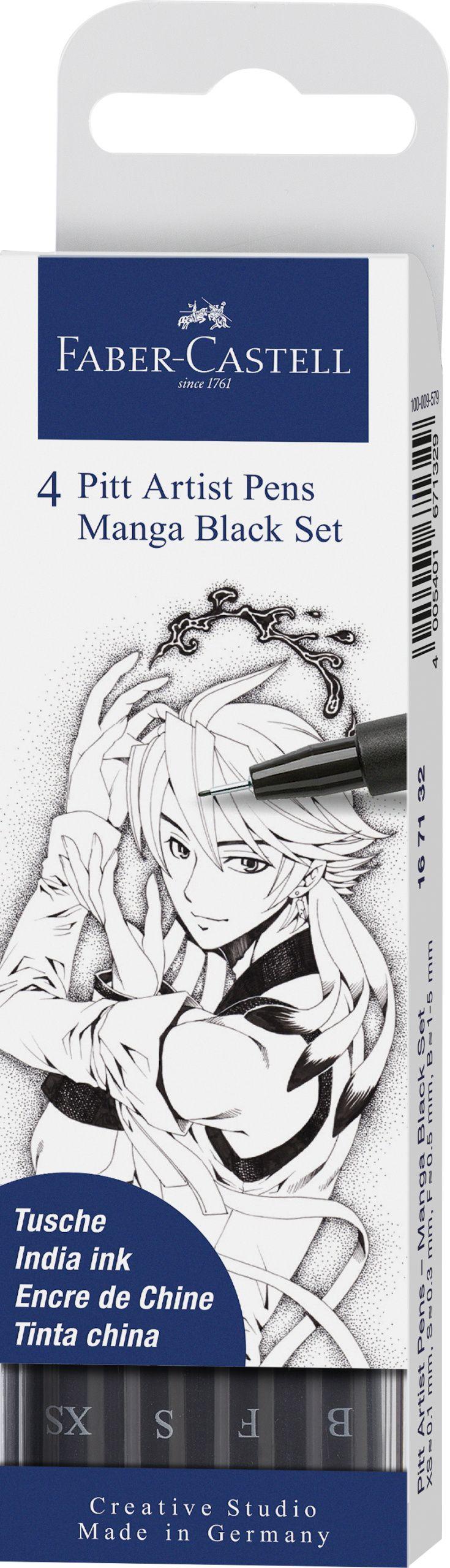 Ручки капиллярные 6 цв FC Artist Pens (brush)