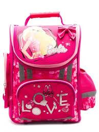 АКЦИЯ40 Канц Ранец Barbie розовый + кукла Барби в подарок