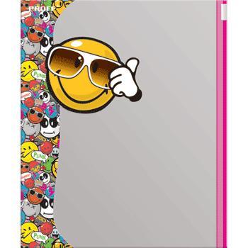 Обложка А5 Proff Smiley для тетрадей и дневников (карман на зип-локе)