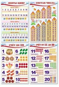 Комплект познавательных мини-плакатов: Количество и счет А4