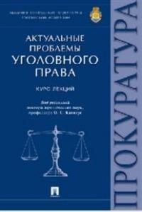 Актуальные проблемы уголовного права: Курс лекций