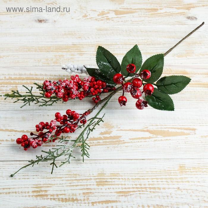 НГ Ветка 37см Зимнее чудо с ягодами