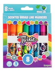 Фломастеры 8 цв Twixie ароматизированные широкие к/к