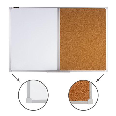 Доска магнитно-маркерная 600*900 пробка/магн-марк алюм рамка
