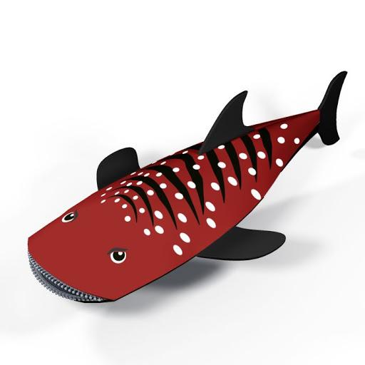 Распродажа Пенал-косметичка Акула Красный объемный фигурный