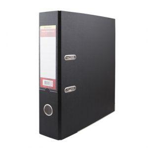 Распродажа Папка-регистратор 75мм черный ПВХ/бумага мет/окант
