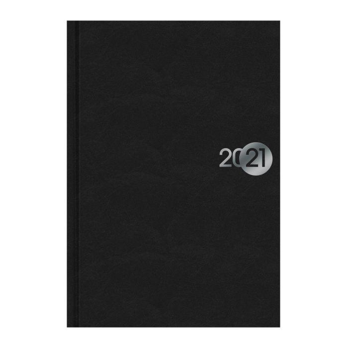 Ежедневник А5 2021г Чёрный (бумвинил)