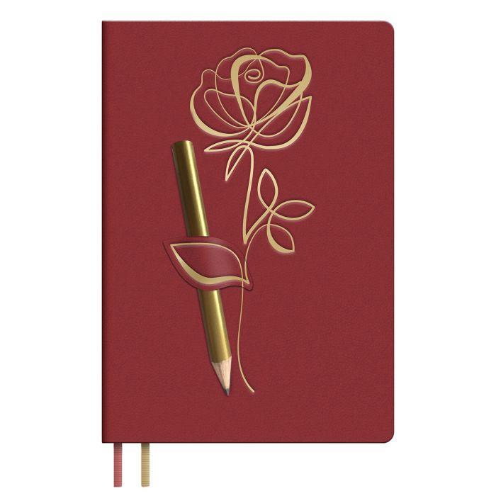 Зап. книжка А5 120л Escalada Сариф красный + карандаш