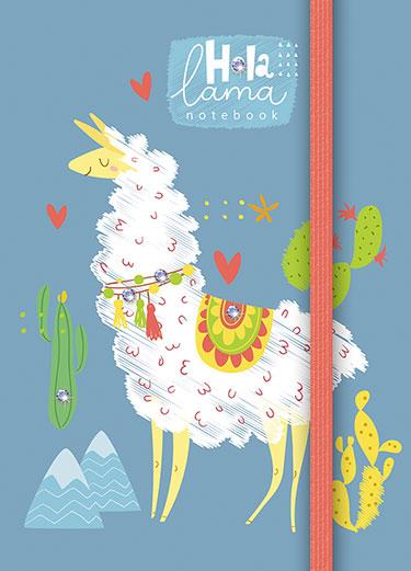 Зап. книжка А6 80л тонир Пушистая лама, с резинкой