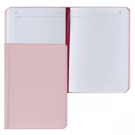 Ежедневник А6 Velvet зефирный розовый