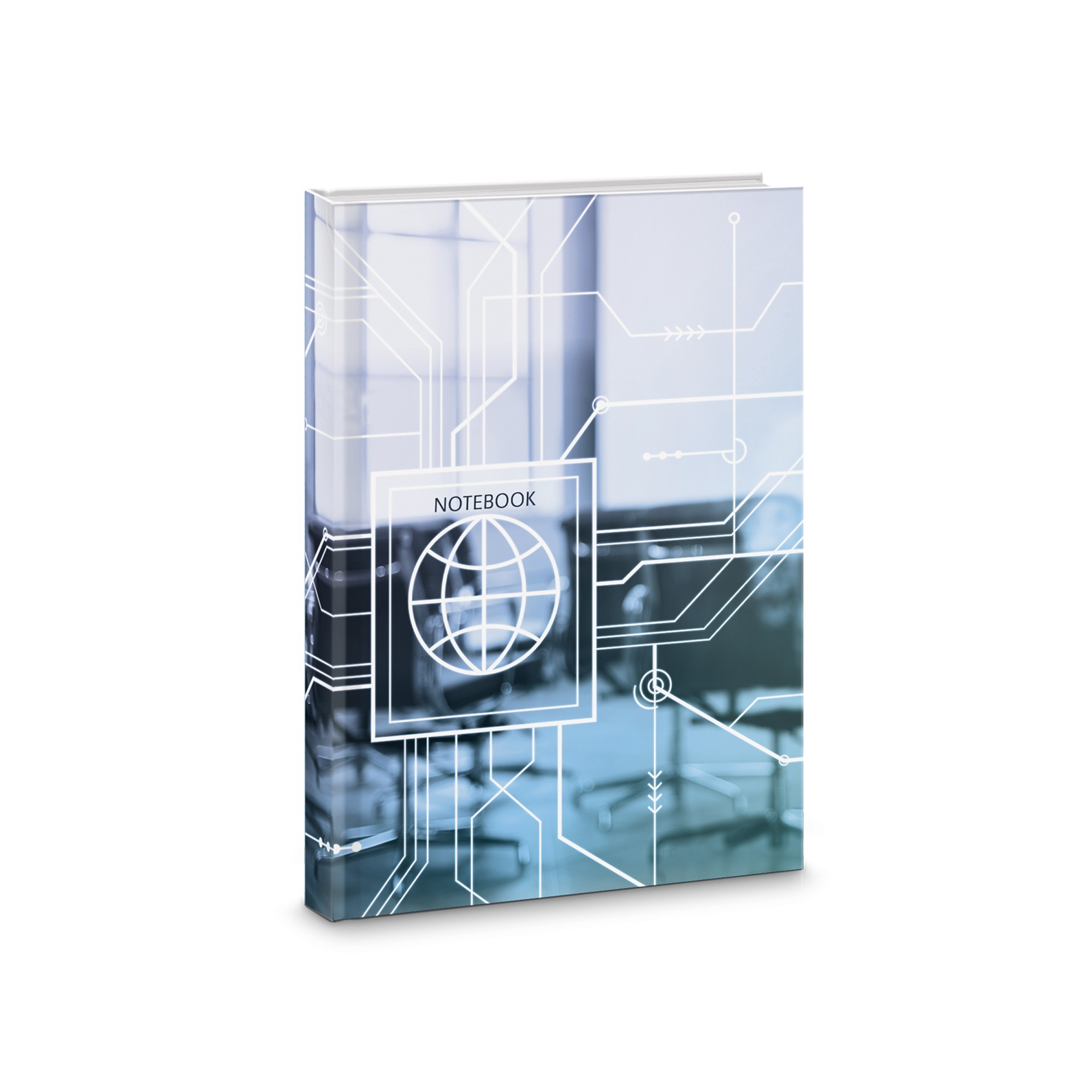 Зап. книжка А6 80л тв кл Office style Дизайн 1