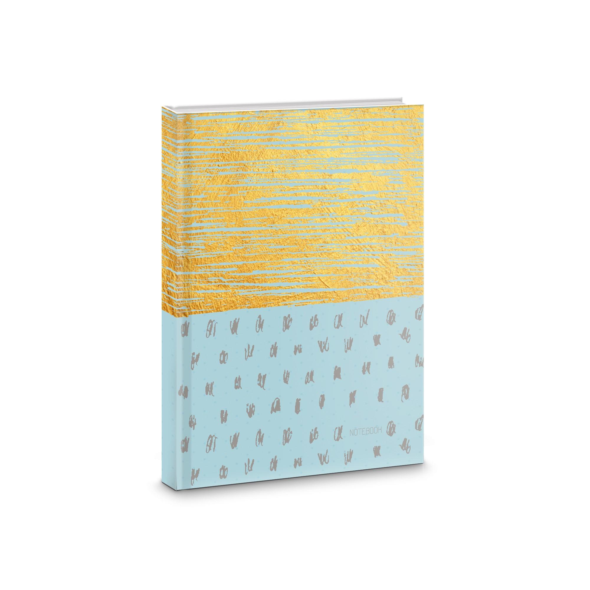 Зап. книжка А6+ 80л тв кл Золотые штрихи
