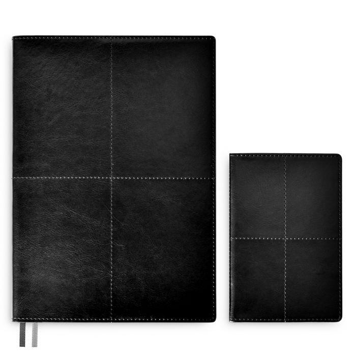 Набор подар. Escalada Сариф чёрный кожзам (зап. книжка + обложка д/паспорта)