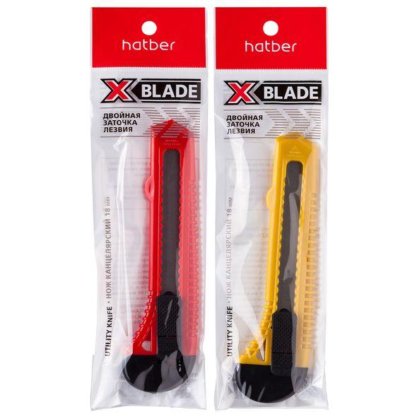 Нож 18мм Hatber X-BLADE PUSH-LOCK