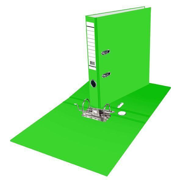 Папка-регистратор 70мм зеленый с карманом на корешке глянц. ламинация