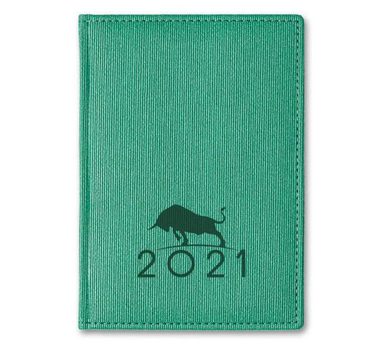 Ежедневник А5 2021г Corduroy Символ года Зеленый