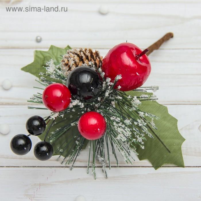НГ Ветка 20см Зимние мечты ягоды и шишка