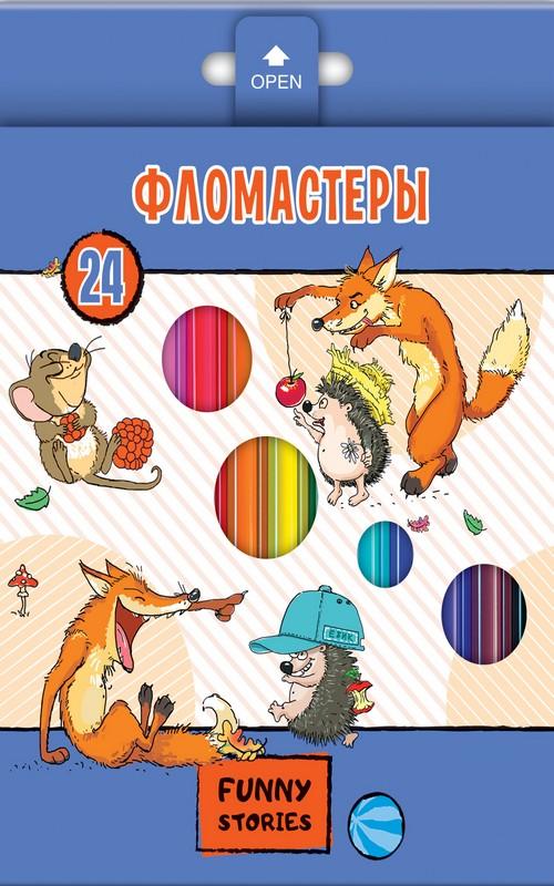 Фломастеры 24 цв Забавные животные к/к