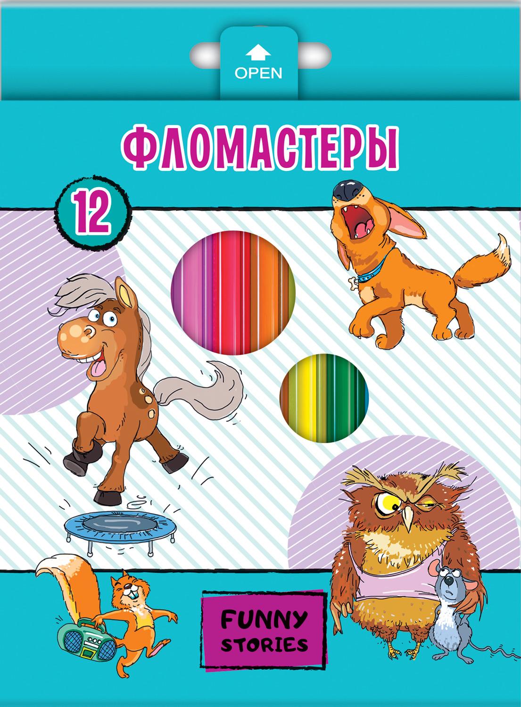 Фломастеры 12 цв Забавные животные к/к