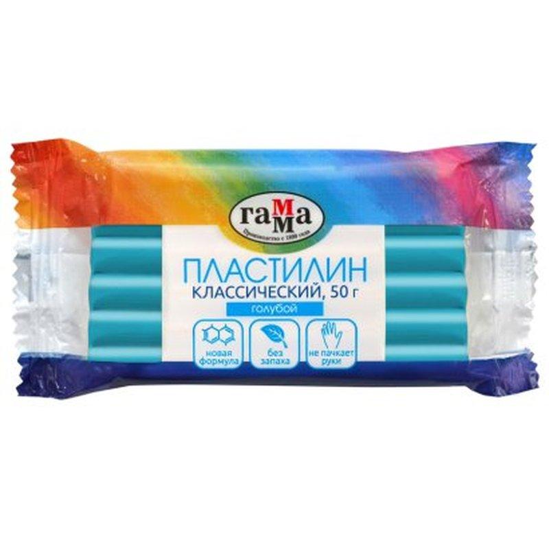 Пластилин 1 цв 50гр Классический голубой