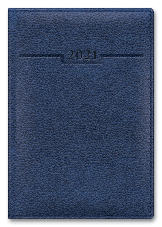 Ежедневник А5 2021г Armonia Elefant синий