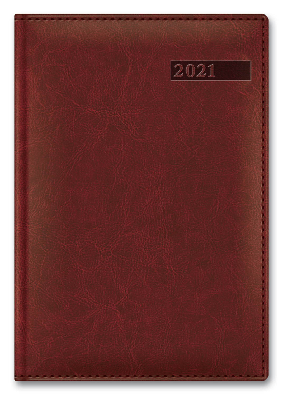 Ежедневник А5 2021г Sarif Image коричневый