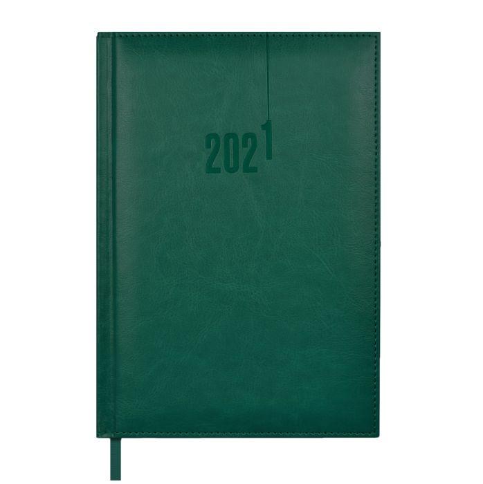 Ежедневник А5 2021г Escalada Сариф-эконом зеленый