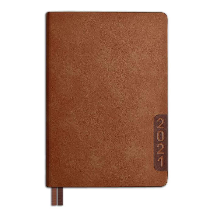 Ежедневник А5 2021г Escalada Буйвол коричневый