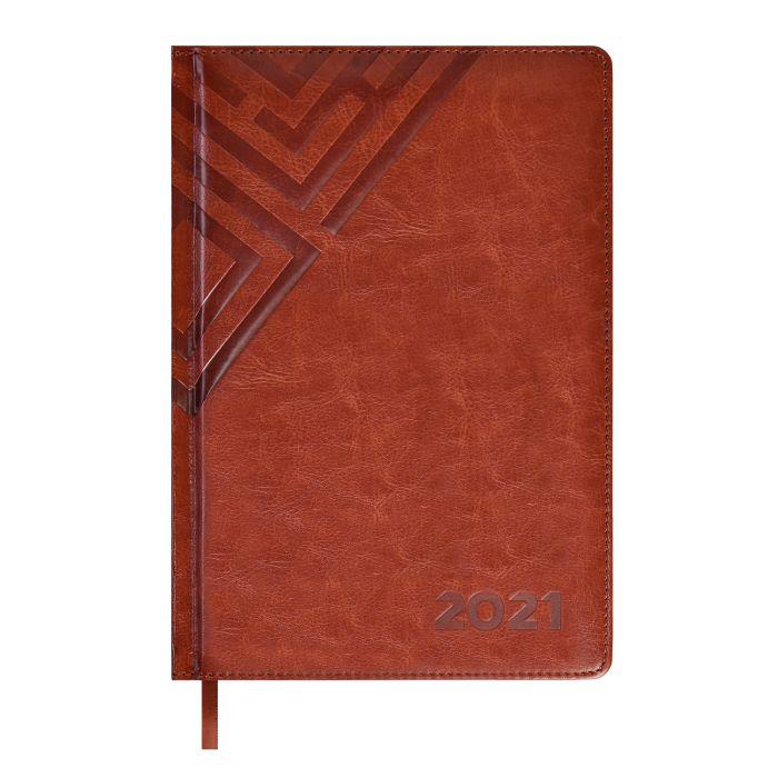 Ежедневник А5 2021г Escalada Сариф коричневый