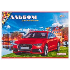 Альбом д/рис 20л Красный автомобиль