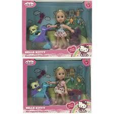 Кукла Пупс Карапуз Hello Kitty Машенька 15см, с питомцем в коляске, аксесс.