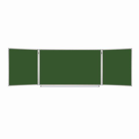 Доска магнитно-меловая 1000*1500/3000 зеленая алюм.рама 3эл