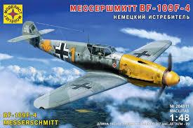 Сборная модель Немецкий истребитель Мессершмитт BF-109F-4 1:48
