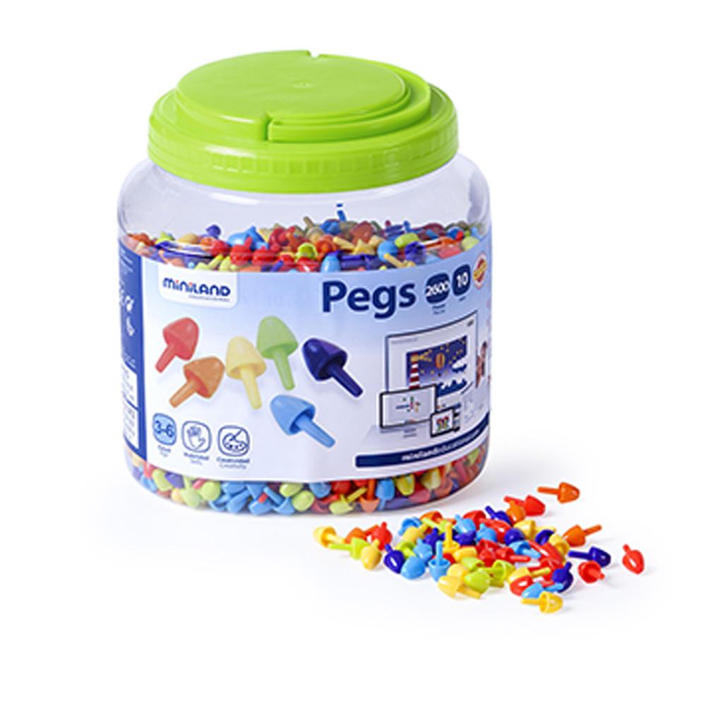 Игра Мозаика PEGS 10мм ЯРКИЕ ЦВЕТА 2600 эл.