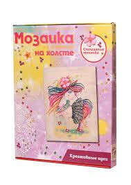 Творч Мозаика из пайеток на холсте 30*40 Единорожка