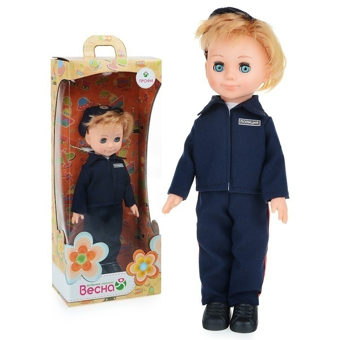 Кукла Полицейский мальчик 30см