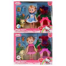Кукла Карапуз Hello Kitty Машенька 15см, с питомцем и аксесс.