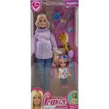 Кукла 29см София беременная, руки и ноги сгибаются, с дочерью, с аксесс.