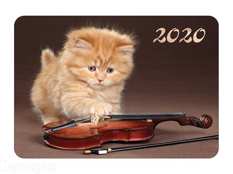 Календарь карманный 2020 Кк7 059736 Котята ассорти