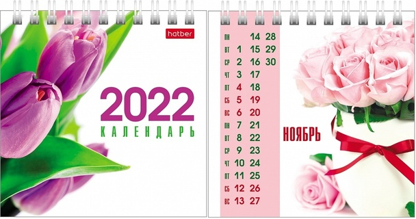 Календарь настольный 2022 (домик) 12КД6гр_24610 Flowers