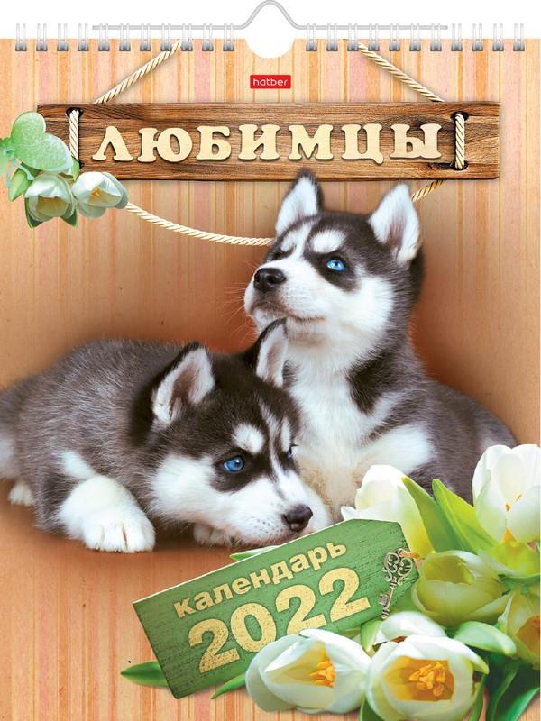 Календарь настенный 2022 12Кнп4гр_19293 Любимцы
