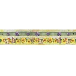 Бордюр для скрапбукинга Цветок и бабочки 30см