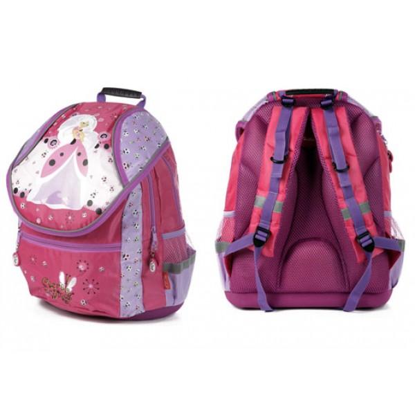 Рюкзак Hatber Secret Wings ортопедический розовый с фиолет.