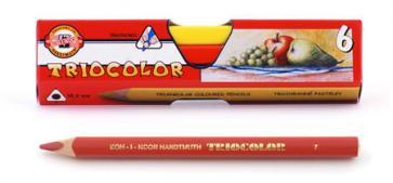 Карандаши цветные 6 цв K-I-N Triocolor треуг.