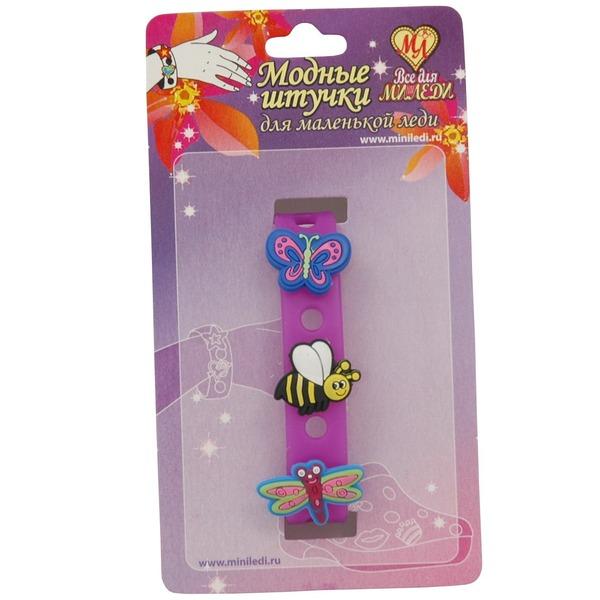 Браслет резиновый Бабочка Пчела